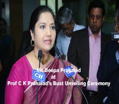 Ms Deepa Prahalad at Prof C K Prahalad's Bust Unveiling Ceremony in CII - SR, Headquarters,Chennai