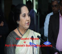 Mrs Gayathri Prahalad at Prof C K Prahalad's Bust Unveiling Ceremony in CII - SR, Headquarters, Chennai.