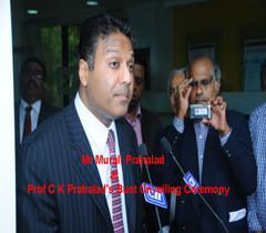 Mr Murali Prahalad at Prof C K Prahalad's Bust Unveiling Ceremony