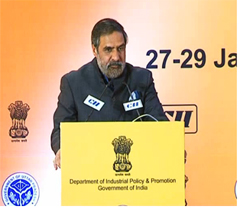 Mr Anand Sharma, Minister of Commerce, Industry & Textiles, Government of India addressing at the Inaugural Session: