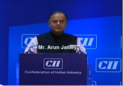 Mr Arun Jaitley, Leader of the Opposition in Rajya Sabha & MP, BJP delivering valedictory address at the CII's AGM and National Conference 2013