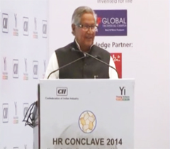 Mr Kailash Meghwal, Hon'ble Speaker, Rajasthan Legislative Assembly at the inaugural session of the HR Conclave 2014