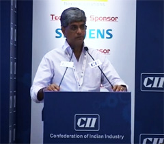 Mr Jayant Davar, Co-Chairman & MD, Sandhar Technologies Ltd at the inaugural session of the Manufacturing Innovation Conclave 2014