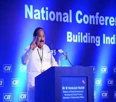 Mr M Venkaiah Naidu, Minister of Urban Development, Housing and Urban Poverty Alleviation, Parliamentary Affairs addressing at the AGM 2015