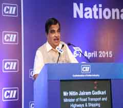 Mr Nitin Jairam Gadkari, Minister of Road Transport and Highways, Shipping addressing at the AGM 2015