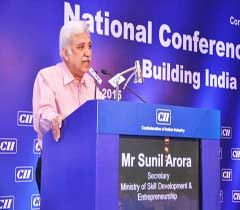 Mr Sunil Arora, Secretary, Ministry of Skill Development & Entrepreneurship addressing at the AGM 2015