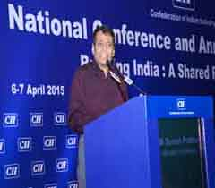 Mr Suresh Prabhu, Minister of Railways, Govt. of India addressing at the AGM 2015