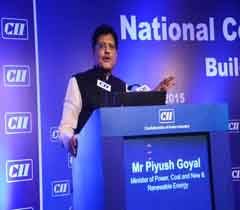 Mr Piyush Goyal, Minister of Power, Coal and New & Renewable Energy addressing at the AGM 2015