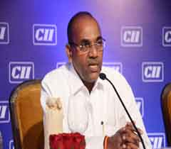 Mr Anant Geete, Minister of Heavy Industries and Public Enterprises addressing at the AGM 2015