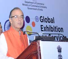 Shri Arun Jaitley, Finance Minister, Govt. of India addressing at the Global Exhibition on Services 2015