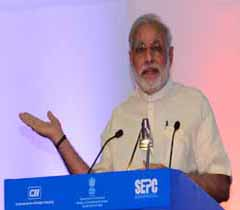 Shri Narendra Modi, Prime Minister of India addressing at the Global Exhibition on Services 2015