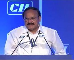 "Mr M Venkaiah Naidu, Minister of Urban Development, Housing and Urban Poverty Alleviation, Parliamentary Affairs, addressing at the session on ""Urbanisation and Smart Cities: Realising the Investment Potential"""