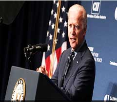 Vice President of the United States, the Honorable Joseph Robinette Biden, Jr. addressing ...