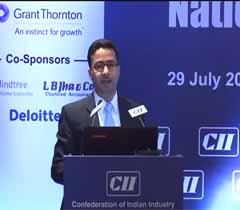 Mr Siddharth Talwar, Partner, Walker Chandiok & Associates addressing at the session on ...