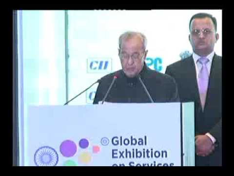 Address by Shri Pranab Mukherjee, President of India at inaugural of Global Exhibition on Services