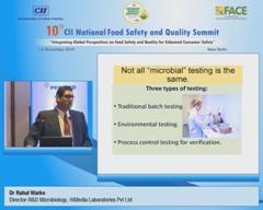 Address by Dr Rahul Warke, Director-R&D Microbiology, HiMedia Laboratories Pvt Ltd