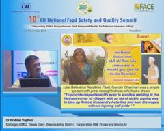 Address by Dr Prahlad Vaghela, Manager (QMS), Banas Dairy, Banaskantha District, Cooperative Milk Producers Union Limited
