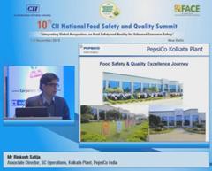 Address by Mr Rinkesh Satija, Associate Director, SC Operations, Kolkata Plant, PepsiCo India