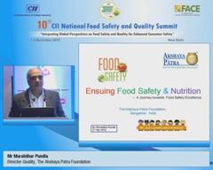 Address by Mr Muralidhar Pundla, Director-Quality, The Akshaya Patra Foundation