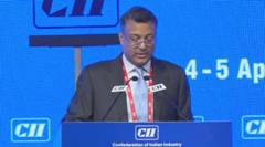 Sumant Sinha, Co-Chairman, CII National Committee on Renewable Energy and Deputy Chairman, CII (Northern Region) and Founder Chairman & CEO, Renew Power Ventures speaks on the Power sector at the Annual Session 2016