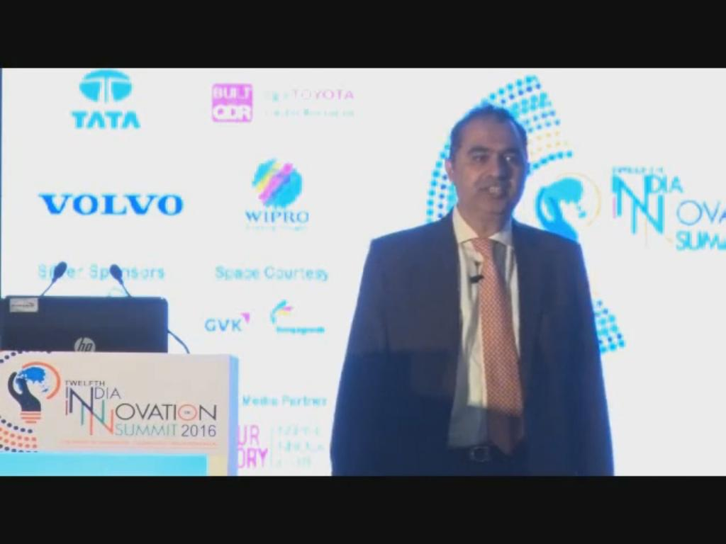 Avnish Sabharwal, MD, Growth & Strategy, Open Innovation & Deal Origination, Accenture India speaks on Innovation at the 12th India Innovation Summit 2016