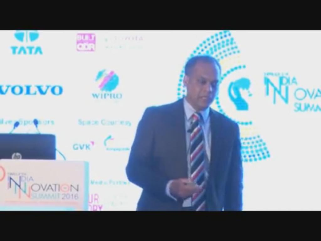 Anthony Thomas, Chief Information Officer, GE Global Growth Organization shares GE's Approach on Innovations at the 12th India Innovation Summit 2016