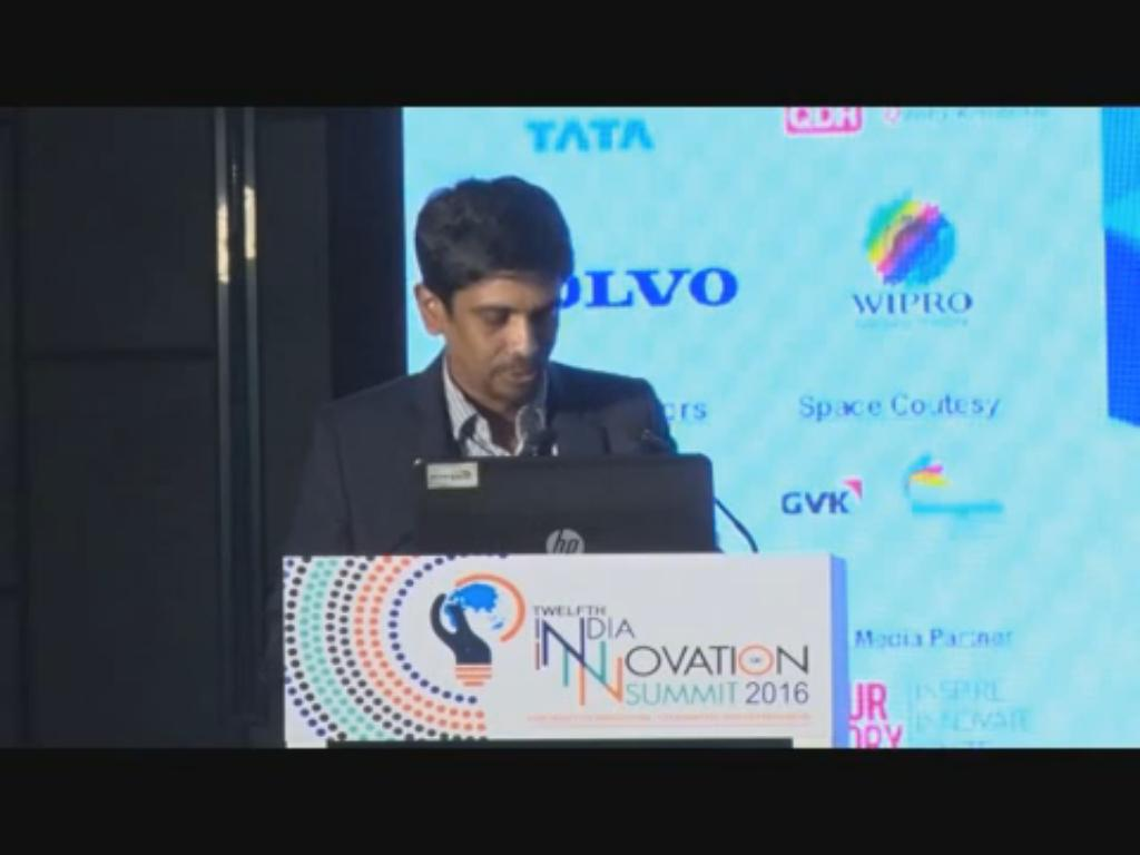 Rajesh Kumar, Chair, Yi Bangalore shares his perspective on How can Young India leverage the Start-up Ecosystem at the 12th India Innovation Summit 2016