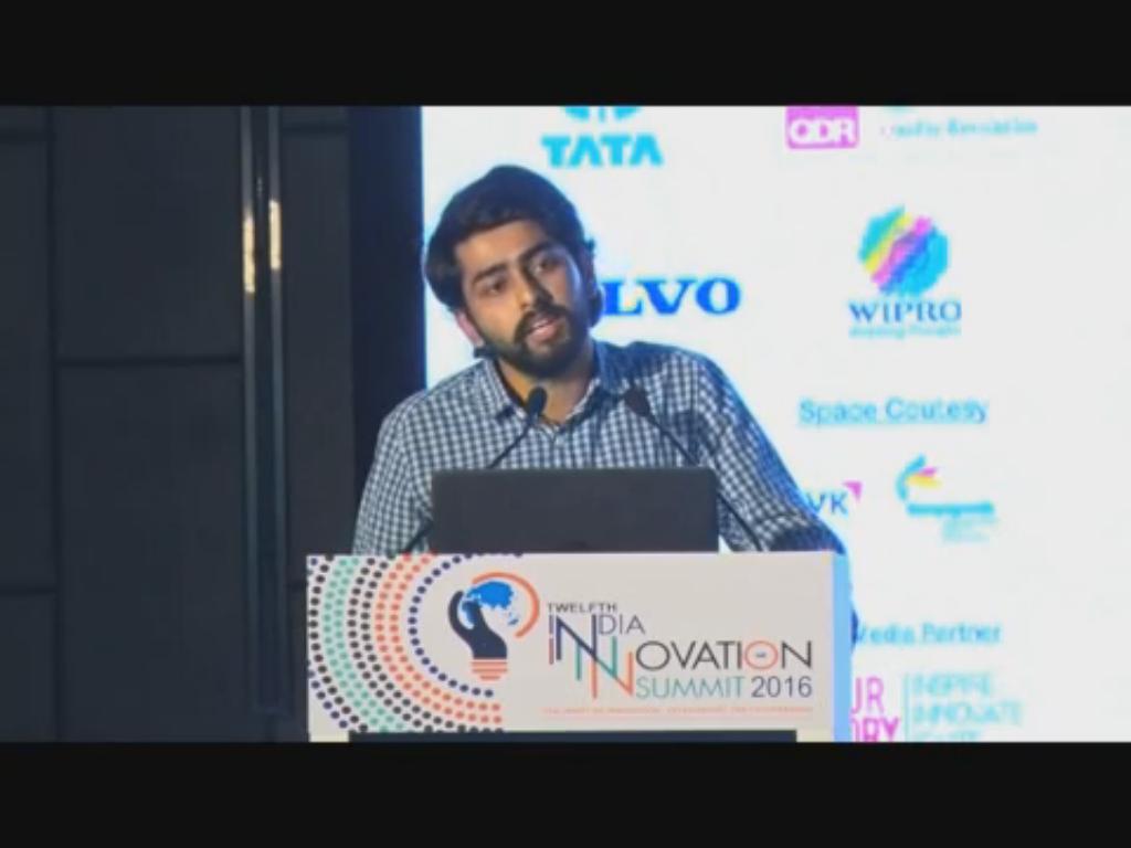 Presentation on ZARIYA at the 12th India Innovation Summit 2016
