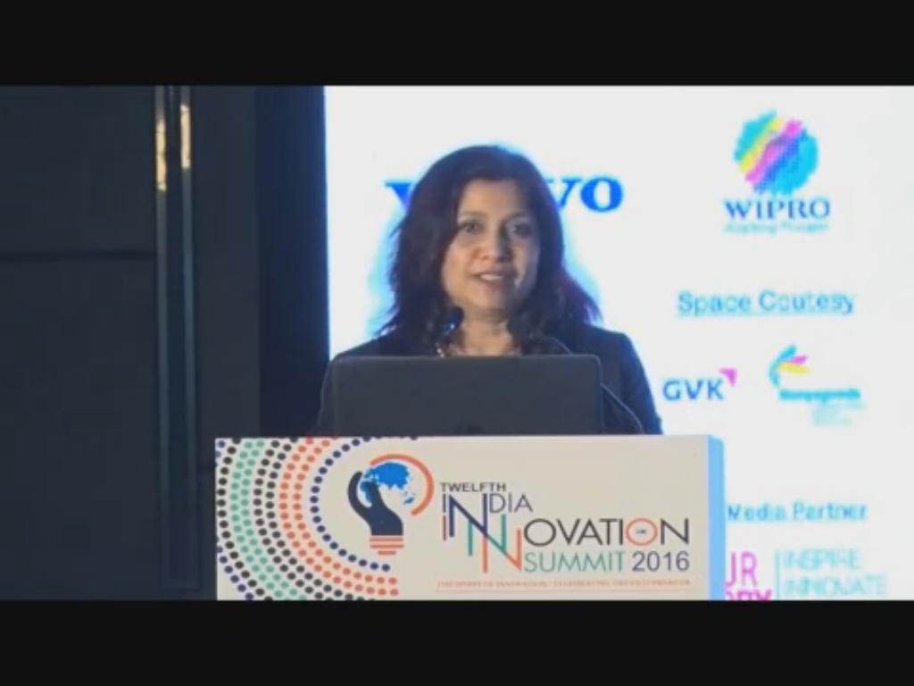 Debarati Sen, Managing Director, 3M India speaks on Innovation at the at the 12th India Innovation Summit 2016