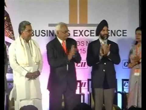 Awards Ceremony of CII Exim Bank Business Excellence Awards 2015
