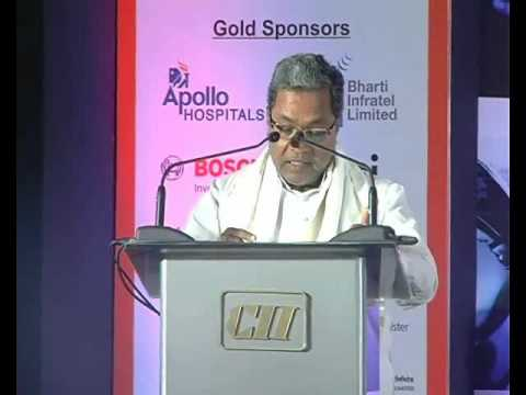 K Siddaramaiah, Hon'ble Chief Minister, Government of Karnataka speaks on the Business Opportunities in Karnataka