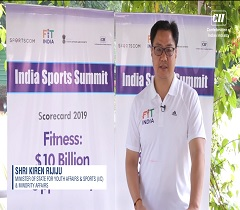 Be a part of the India Sports Summit on 10th October, 2019 in New Delhi: Shri Kiren Rijiju, Minister of State (Independent Charge) Ministry of Youth Affairs and Sports