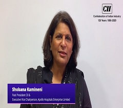Ms. Shobana Kamineni, Past President, CII Shares her Views on Fighting COVID 19