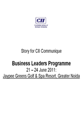 Business leaders programme