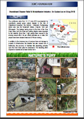 Uttarakhand Disaster Relief & Rehabilitation Initiative - An Update