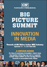 'Innovation in Media' CII Big Picture Summit 2013 (Curtain Raiser Issue)