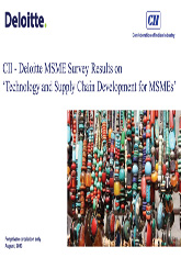 Technology and Supply Chain Development for MSMEs – Driving Global Competitiveness