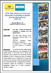 Second Interim Report : CII & Titan Project on Career and Educational Counselling to students from the deprived sector