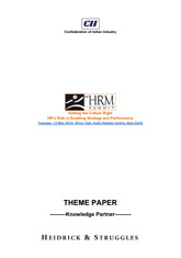 13th CII HRM Summit 2014: Getting the Culture Right: HR's Role in enabling Strategy and Performance – Publication