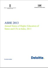 ASHE 2013: Annual Status of Higher Education in States and Union Territories