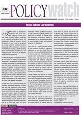 Labour Law Reforms Policy Watch: September 2014
