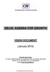 Delhi: Agenda for Growth