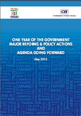 One Year of the Government Major Reforms & Policy Actions and Agenda Going Forward – A Report