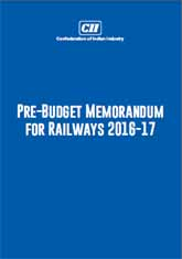 Pre-Budget Memorandum for Railways 2016-17