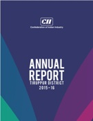 CII Tiruppur Annual Report 2015 - 16