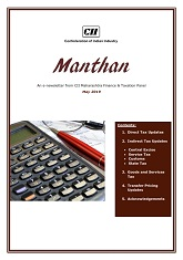 Manthan - An e-newsletter from CII Maharashtra Finance & Taxation Panel