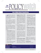 Policy Watch: Building National Competitiveness