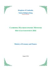 Cambodia Macroeconomic Monitor: Mid-Year Assessment 2016