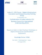 Report on Indo-U.S. Best Practices Workshops on Digital Infrastructure and Broadband Deployment
