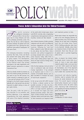 Policy Watch: India's Integration into the Global Economy